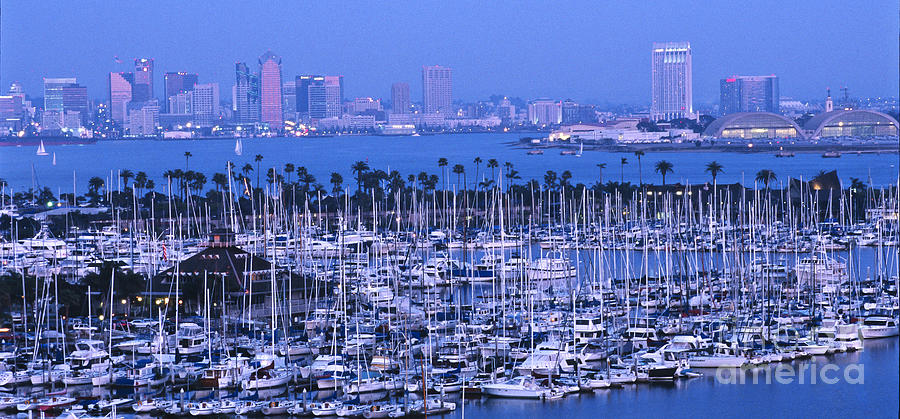 Panoramic Photograph - San Diego Twilight by Sandra Bronstein