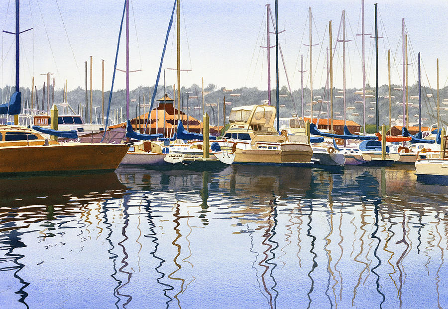 San Diego Painting - San Diego Yacht Club by Mary Helmreich
