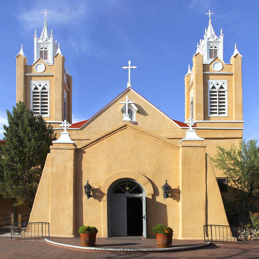 San Felipe Church Photograph - San Felipe Church - Old Town Albuquerque   by Mike McGlothlen