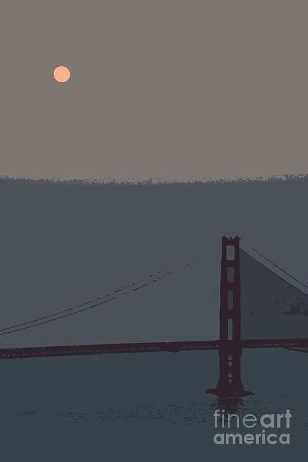 San Francisco Photograph - San Fran Supermoon by David Bearden