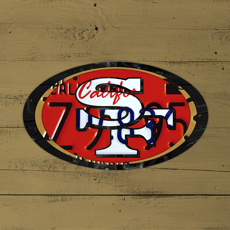 San Francisco 49ers Football Team Retro Logo California License ...