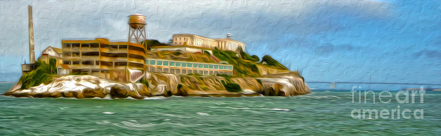 San Francisco Painting - San Francisco - Alcatraz - 02 by Gregory Dyer