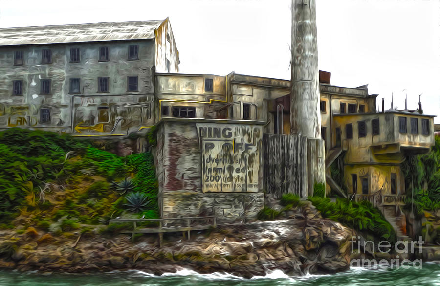 San Francisco Painting - San Francisco - Alcatraz - 04 by Gregory Dyer