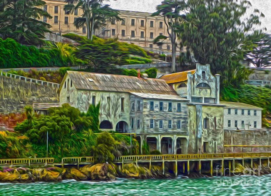 San Francisco Painting - San Francisco - Alcatraz - 06 by Gregory Dyer
