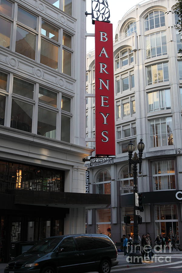 San Francisco Photograph - San Francisco Barneys Department Store - 5d20544 by Wingsdomain Art and Photography
