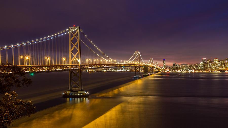 San Francisco Photograph - San Francisco Bay Bridge by Pierre Leclerc Photography