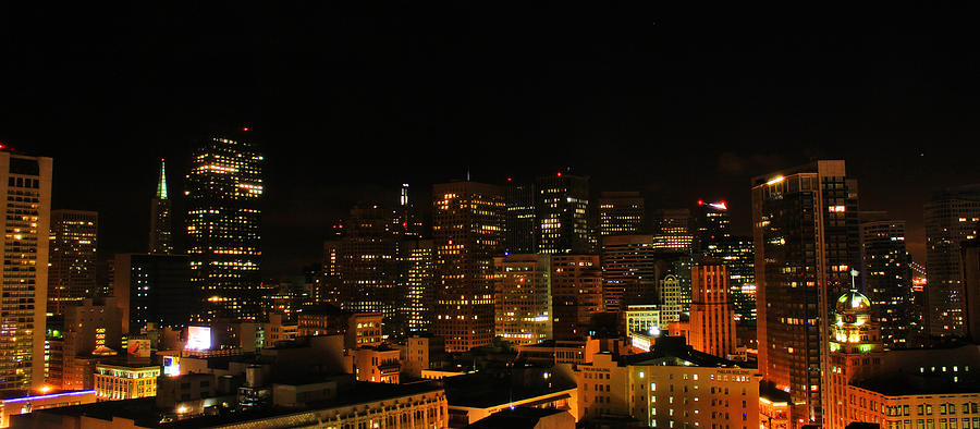 San Francisco Photograph - San Francisco By Night by Cedric Darrigrand
