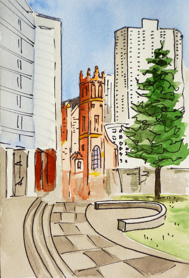 Sketchbook Painting - San Francisco - California Sketchbook Project by Irina Sztukowski