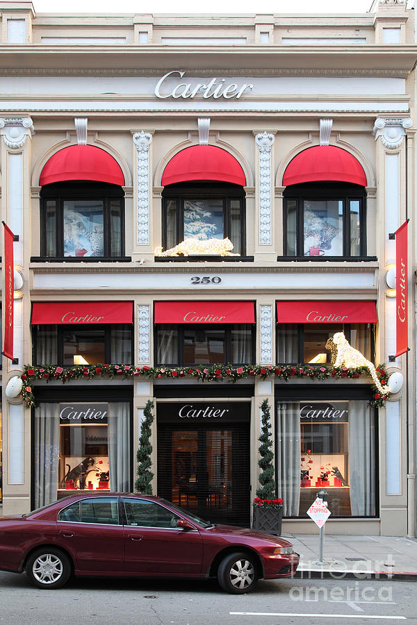 San Francisco Photograph - San Francisco Cartier Storefront - 5d20567 by Wingsdomain Art and Photography