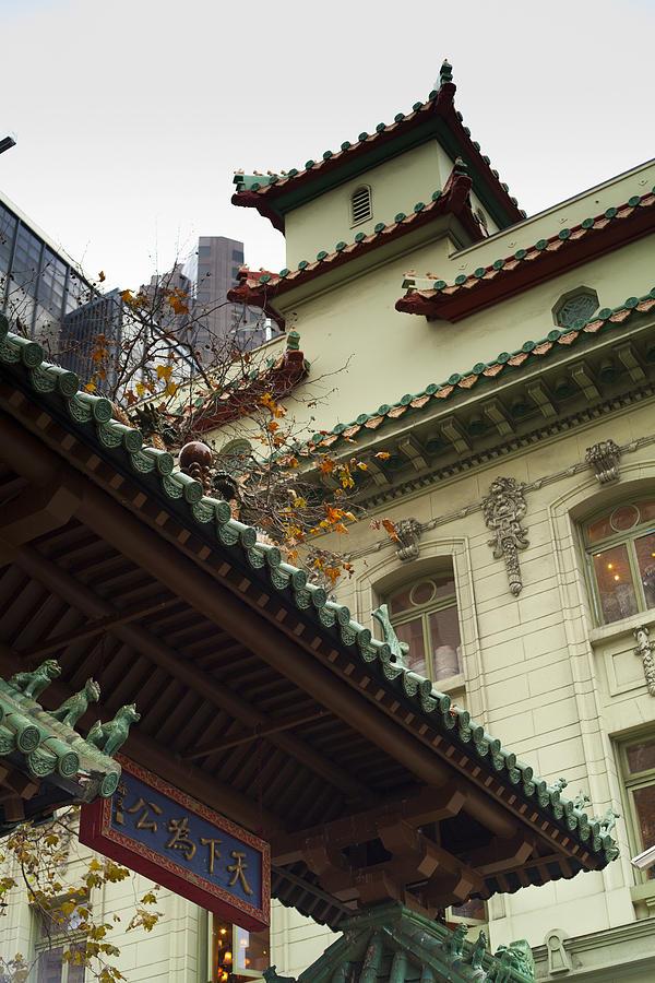 San Francisco Photograph - San Francisco Chinatown Dragon Gate by SFPhotoStore