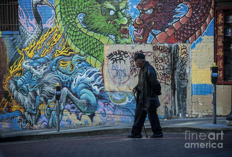 Art Photograph - San Francisco Chinatown Street Art by Juli Scalzi