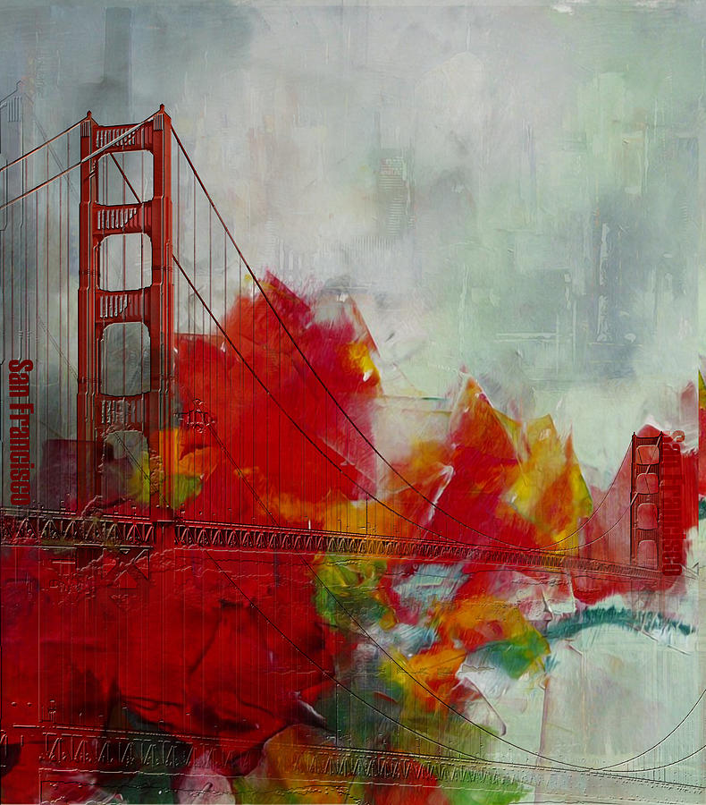 San Francisco Bay Painting - San Francisco City Collage by Corporate Art Task Force