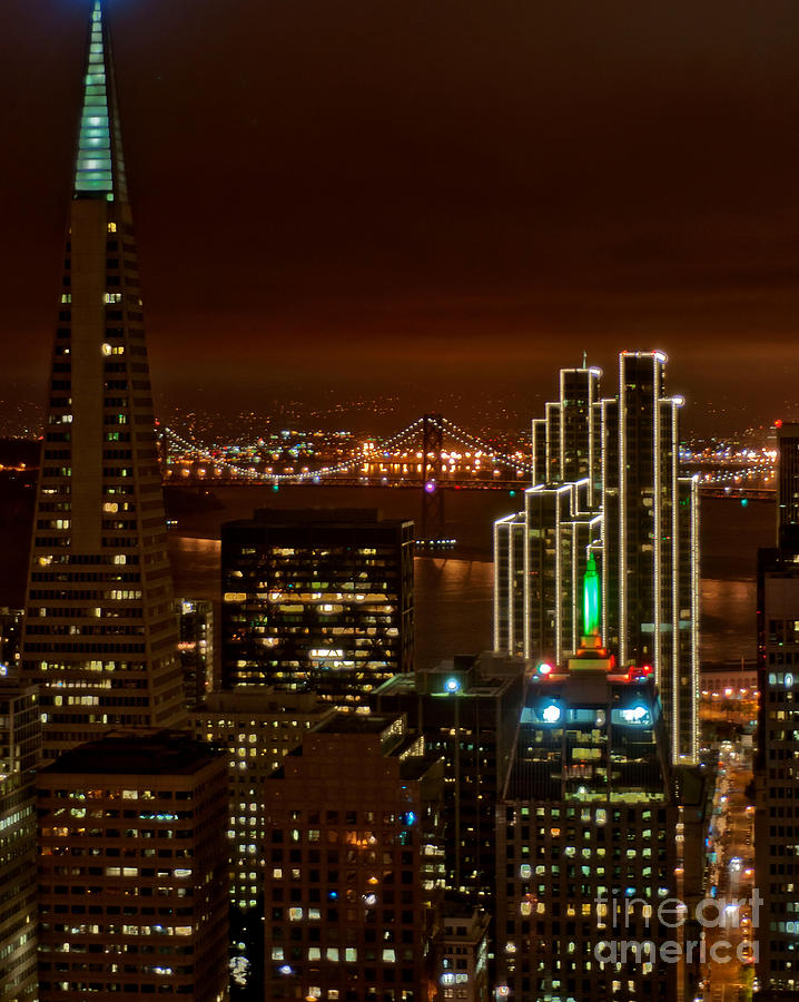 Night Time Photography Photograph - San Francisco City Lights by Loriannah Hespe
