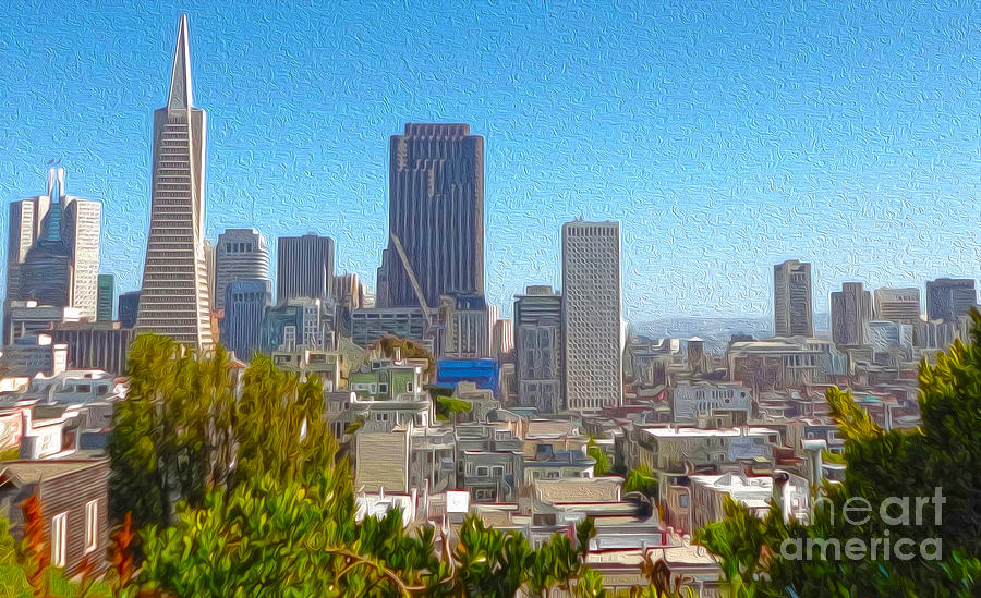 San Francisco Painting - San Francisco - Cityscape - 03 by Gregory Dyer