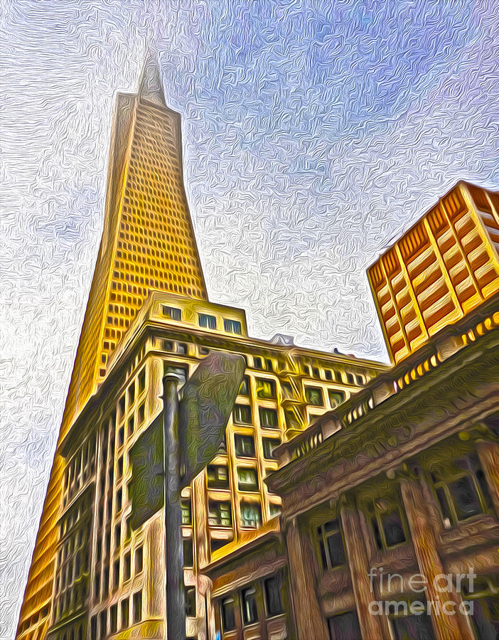 San Francisco Painting - San Francisco - Cityscape - 05 by Gregory Dyer