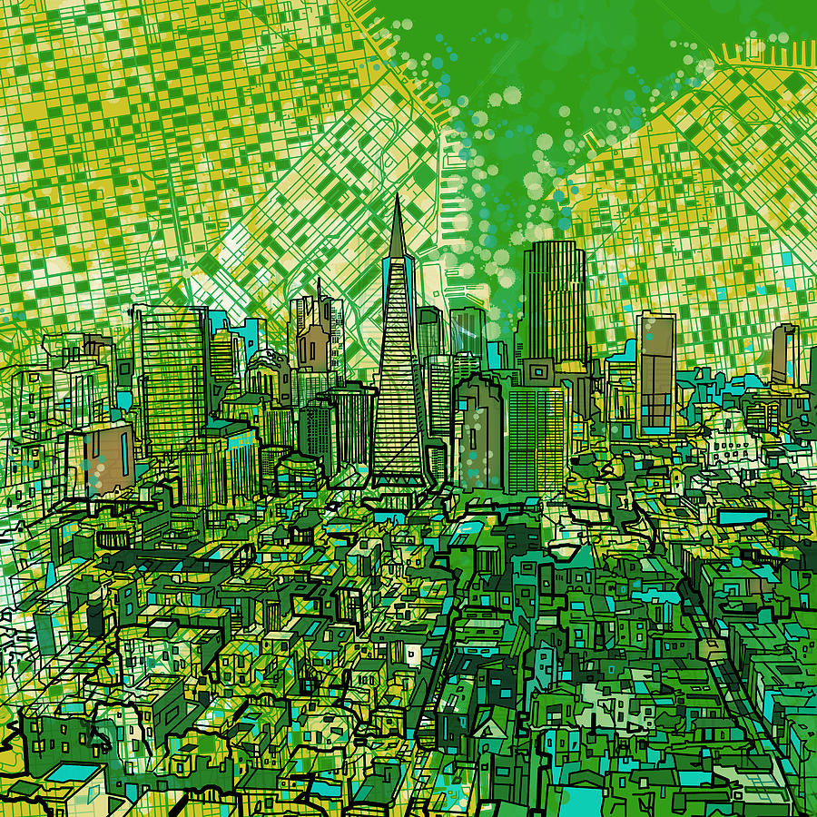 San Francisco Painting - San Francisco Cityscape 3 by Bekim M