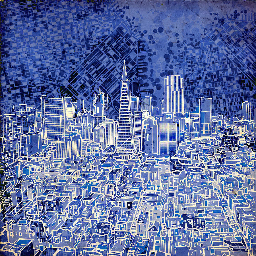 San Francisco Painting - San Francisco Cityscape 4 by Bekim M