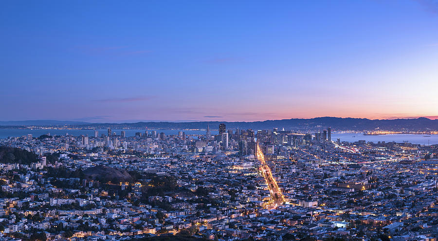 San Francisco Cityscape In Sunrise Photograph by Chinaface