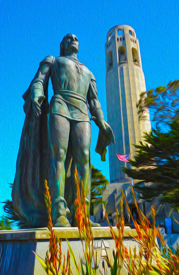 San Francisco Painting - San Francisco - Coit Tower - 02 by Gregory Dyer