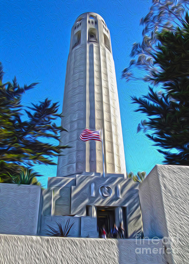 San Francisco Painting - San Francisco - Coit Tower - 03 by Gregory Dyer