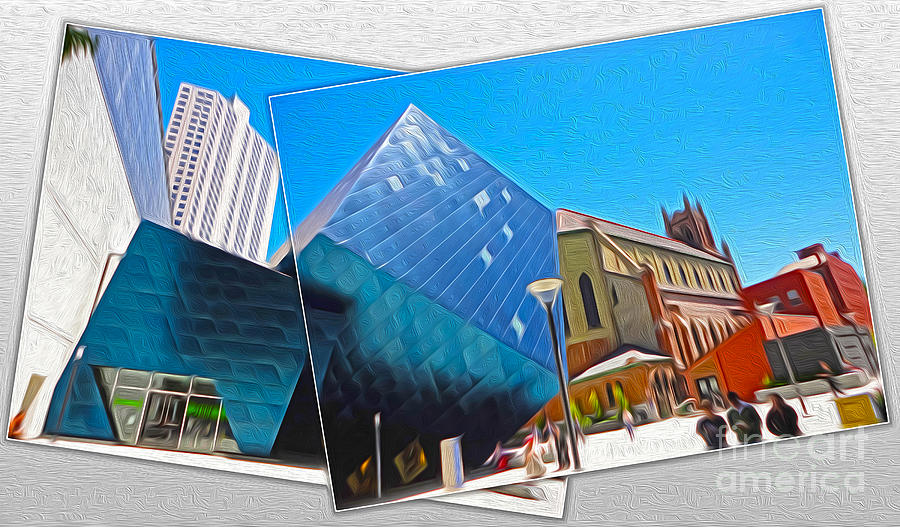 San Francisco Painting - San Francisco - Contemporary Jewish Museum - 01 by Gregory Dyer