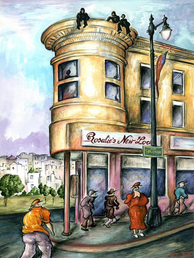 San Francisco North Beach - Watercolor Art Painting by Peter Potter