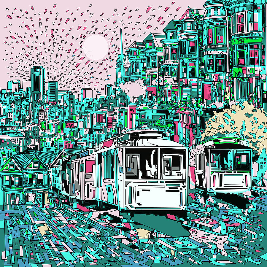 San Francisco Painting - San Francisco Dream by Bekim M