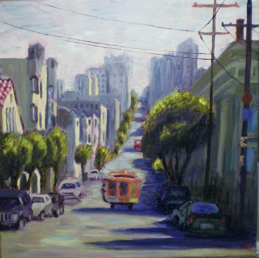 City Painting - San Francisco by Elena Sokolova