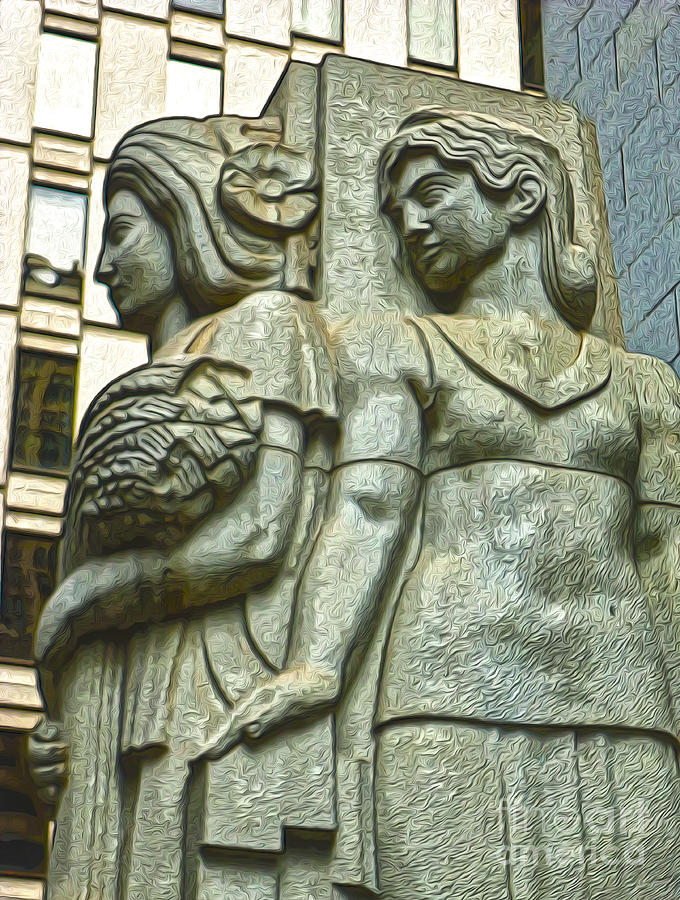 San Francisco Painting - San Francisco - Financial District Statue - 05 by Gregory Dyer