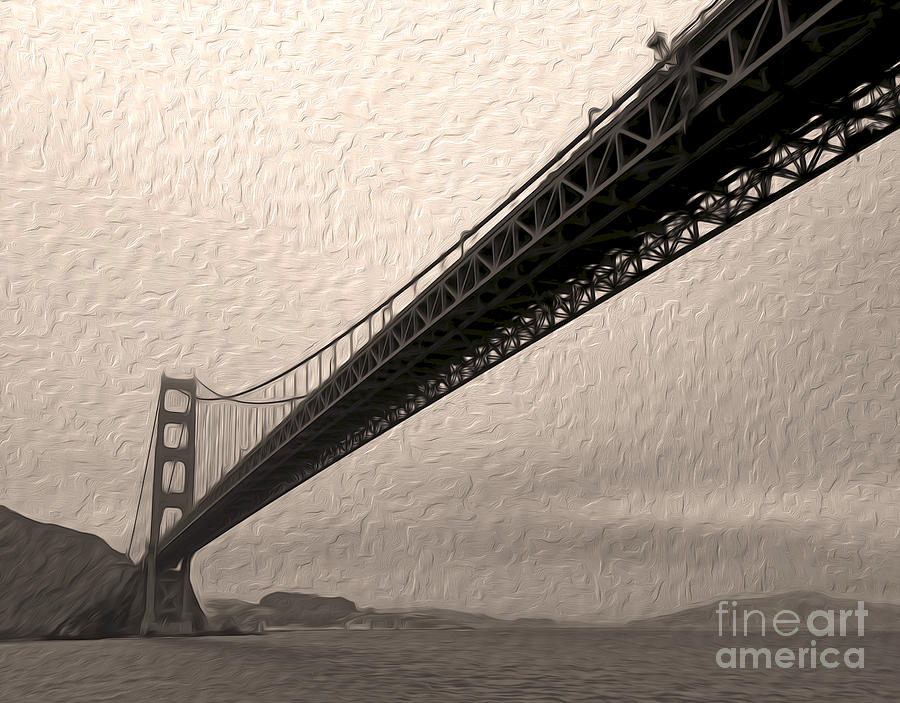 San Francisco Golden Gate Bridge Painting - San Francisco - Golden Gate Bridge - 05 by Gregory Dyer