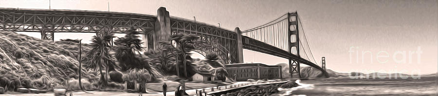 San Francisco Painting - San Francisco - Golden Gate Bridge - 06 by Gregory Dyer