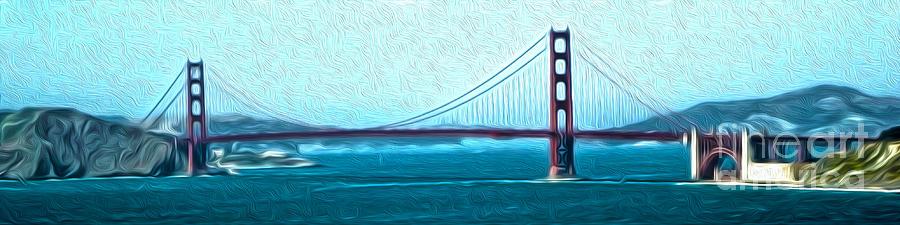 San Francisco Painting - San Francisco - Golden Gate Bridge - 07 by Gregory Dyer
