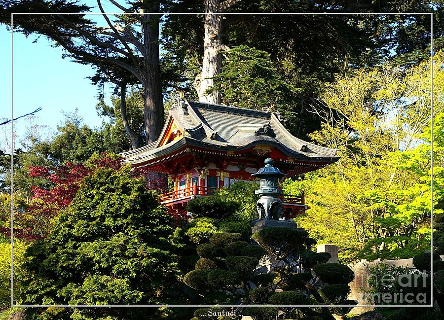 Pagodas Photograph - San Francisco Golden Gate Park Japanese Tea Garden 5 by Robert Santuci