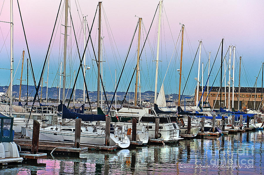 City Scenes Photograph - San Francisco Harbor At Pier 39 by Artist and Photographer Laura Wrede