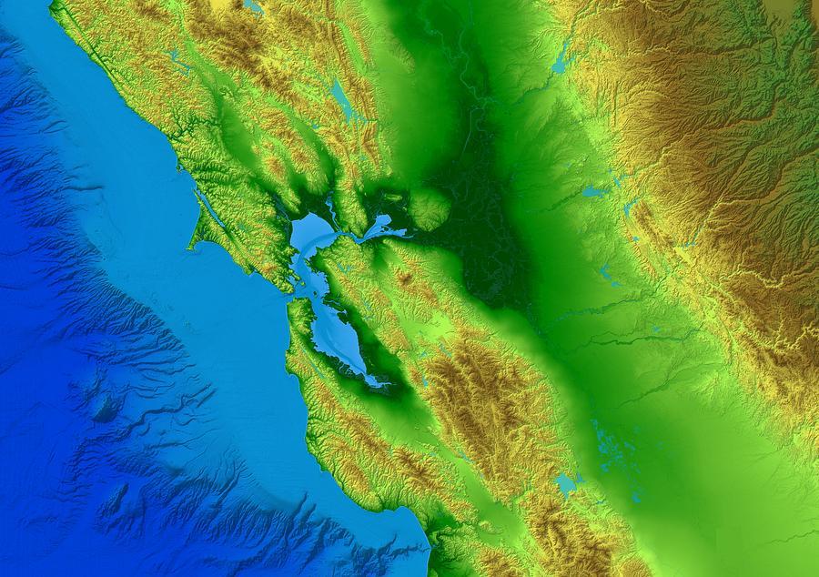 San Francisco Digital Art - San Francisco Map Art by Paul Hein