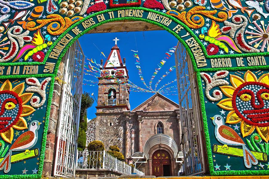Church Photograph - San Francisco Mexico by John  Bartosik
