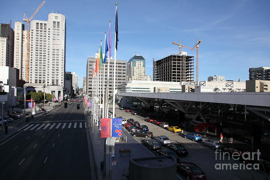 San Francisco Photograph - San Francisco Moscone Center And Skyline - 5d20511 by Wingsdomain Art and Photography