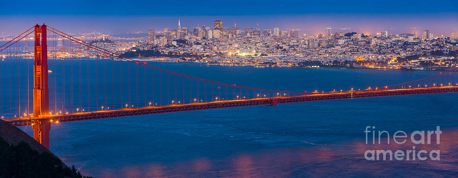 America Photograph - San Francisco Panorama by Inge Johnsson