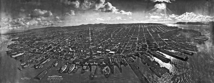 1906 Photograph - San Francisco Panorama by Underwood Archives