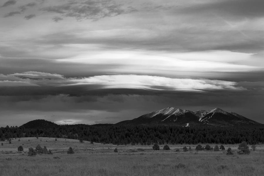 Williams Photograph - San Francisco Peaks From Williams by Mike Herdering