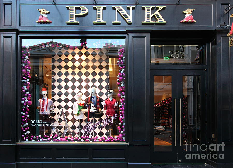San Francisco Photograph - San Francisco Pink Storefront - 5d20565 by Wingsdomain Art and Photography