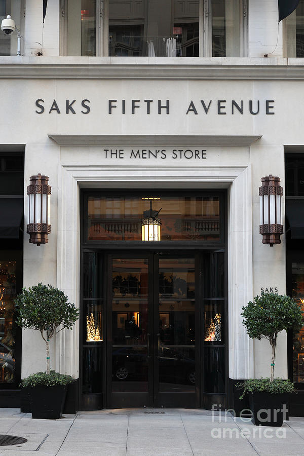 San Francisco Photograph - San Francisco Saks Fifth Avenue Store Doors - 5d20574 by Wingsdomain Art and Photography