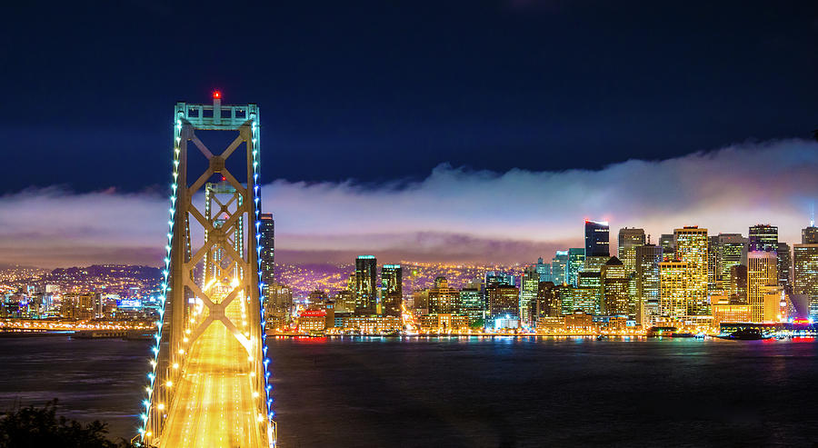 San Francisco Skyline Panorama And Photograph by Dszc