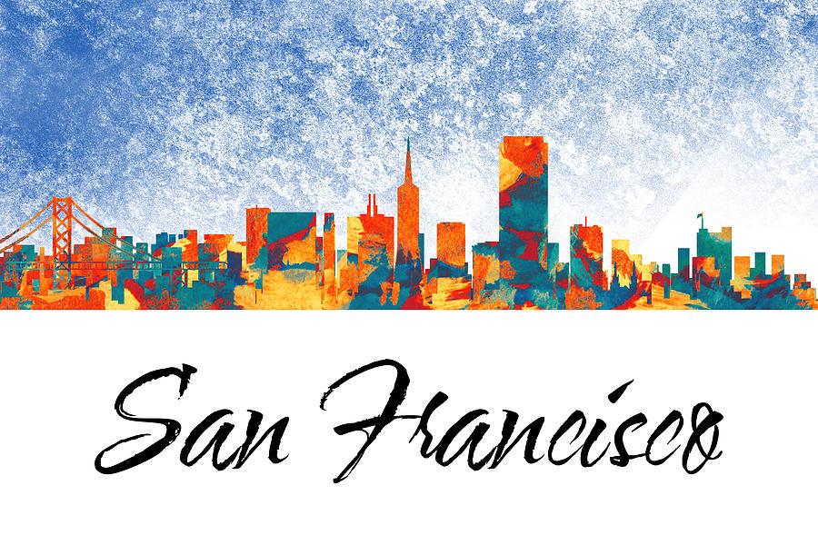 San Francisco Skyline Digital Art - San Francisco Skyline  by Special Tees