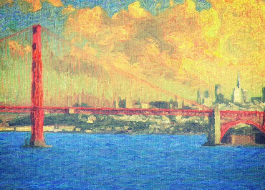 San Francisco Painting - San Francisco by Taylan Apukovska