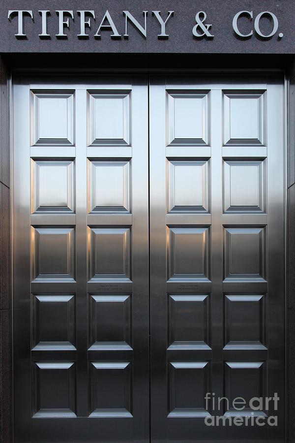 San Francisco Photograph - San Francisco Tiffany And Company Store Doors - 5d20561 by Wingsdomain Art and Photography