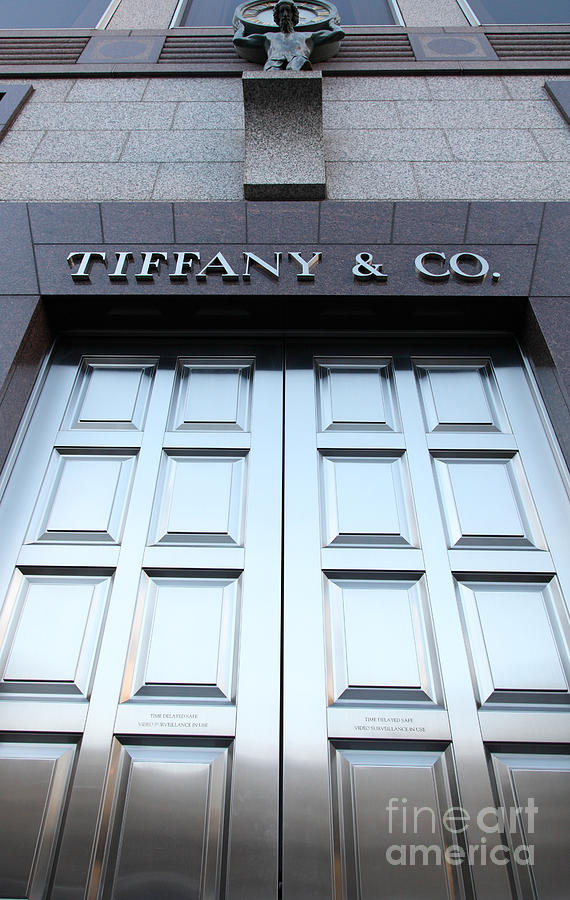 San Francisco Photograph - San Francisco Tiffany And Company Store Doors - 5d20562 by Wingsdomain Art and Photography