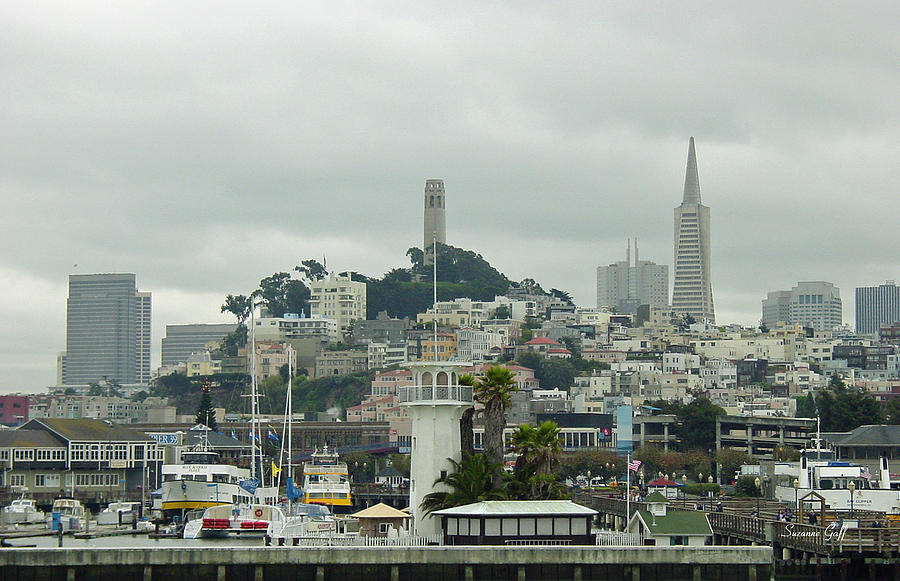 San Francisco Photograph - San Francisco View From Fishermans Wharf by Suzanne Gaff