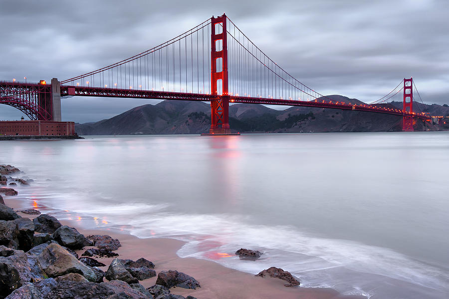 America Photograph - San Franciscos Golden Gate Bridge by Gregory Ballos