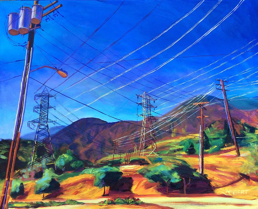 San Gabriel Painting - San Gabriel Power by Bonnie Lambert